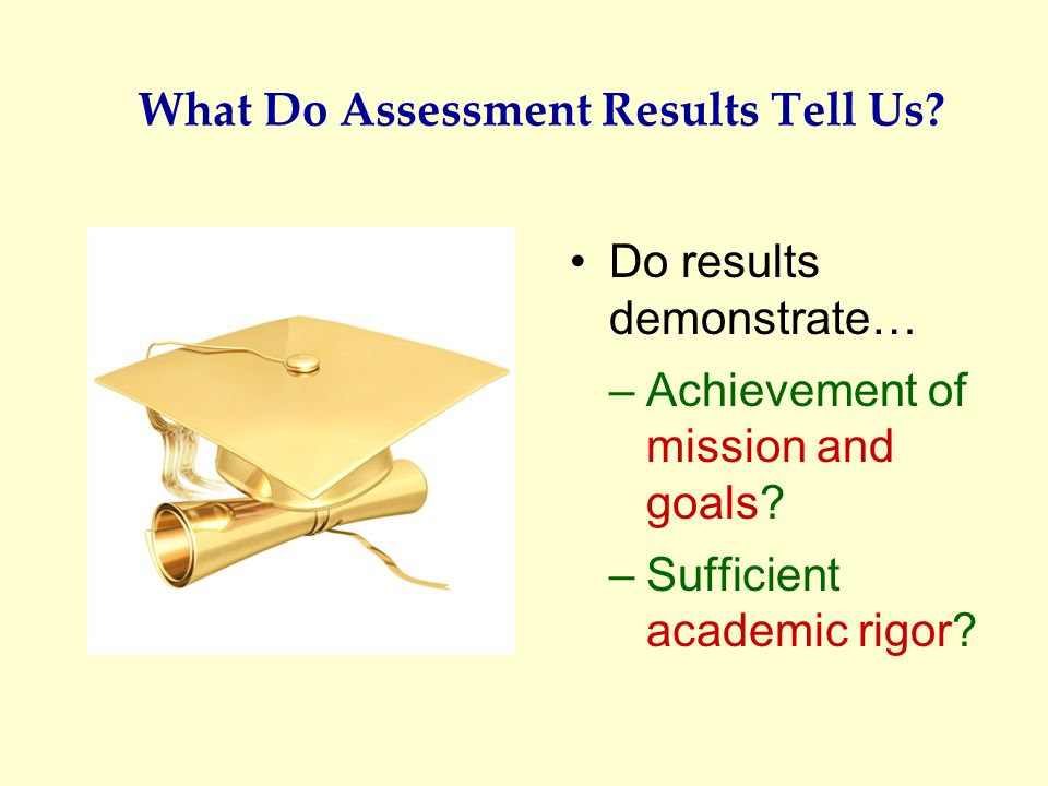 What Do Assessment Results Tell Us