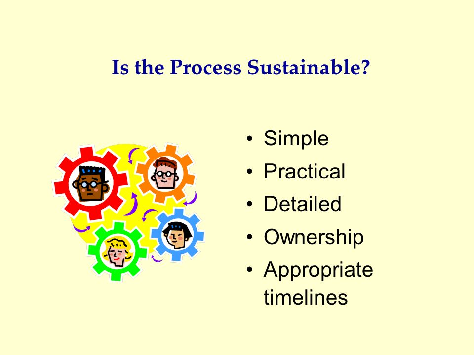 Is the Process Sustainable