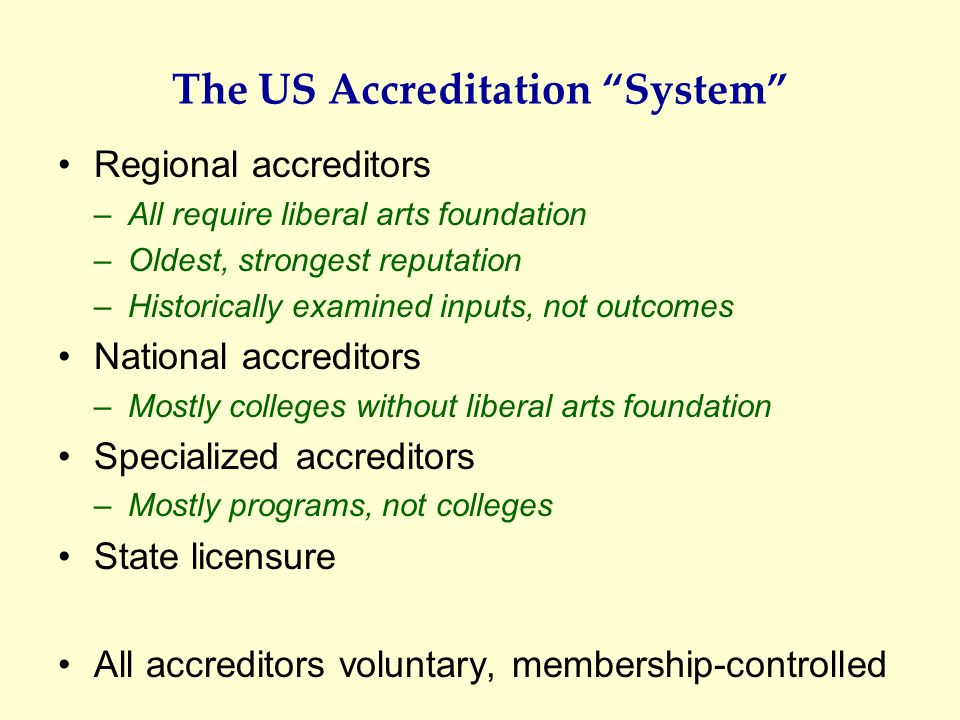 The US Accreditation System