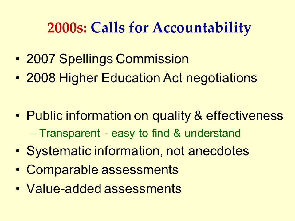 2000s: Calls for Accountability
