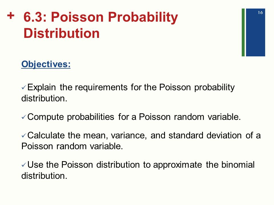 poisson distribution calculation of probabilities