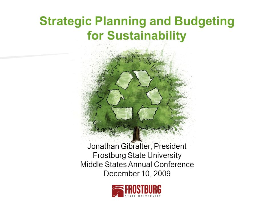 Strategic Planning and Budgeting for Sustainability