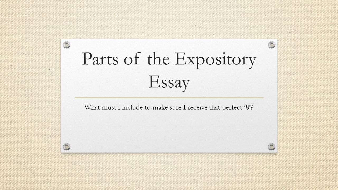 can an expository essay be in first person
