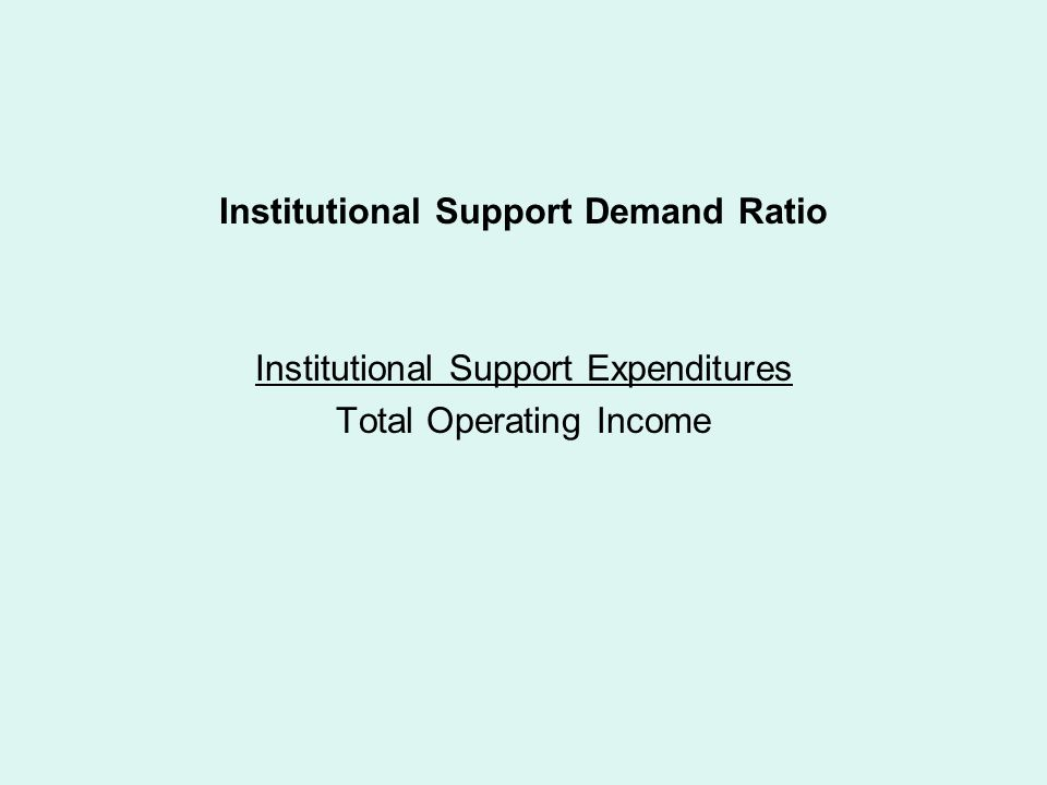 Institutional Support Demand Ratio