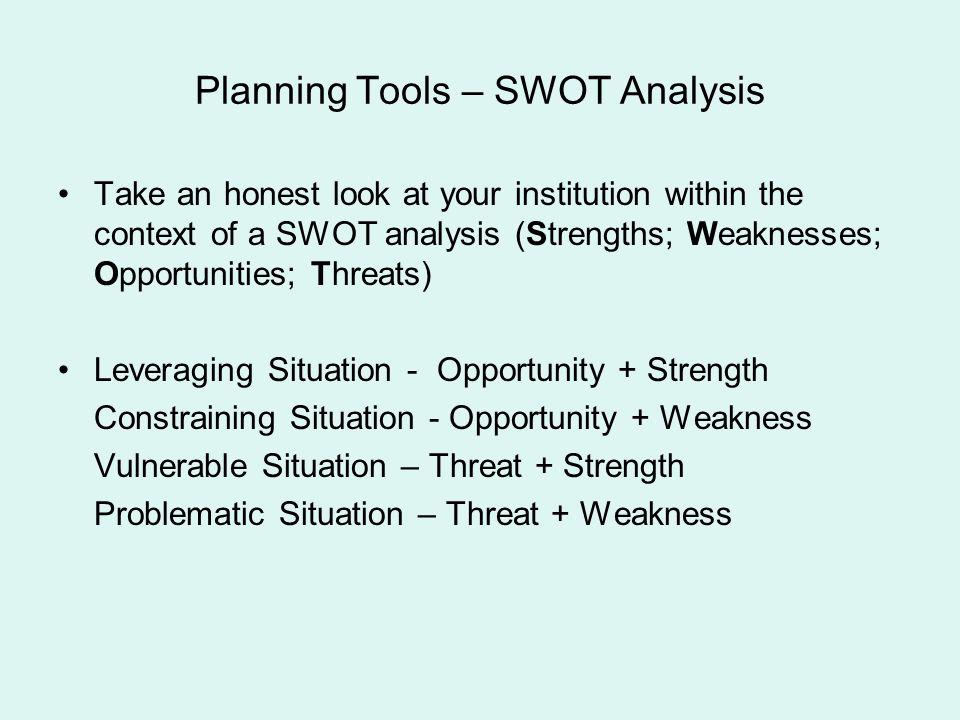 Planning Tools – SWOT Analysis