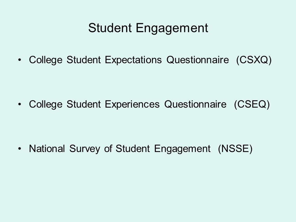 Student Engagement College Student Expectations Questionnaire (CSXQ)