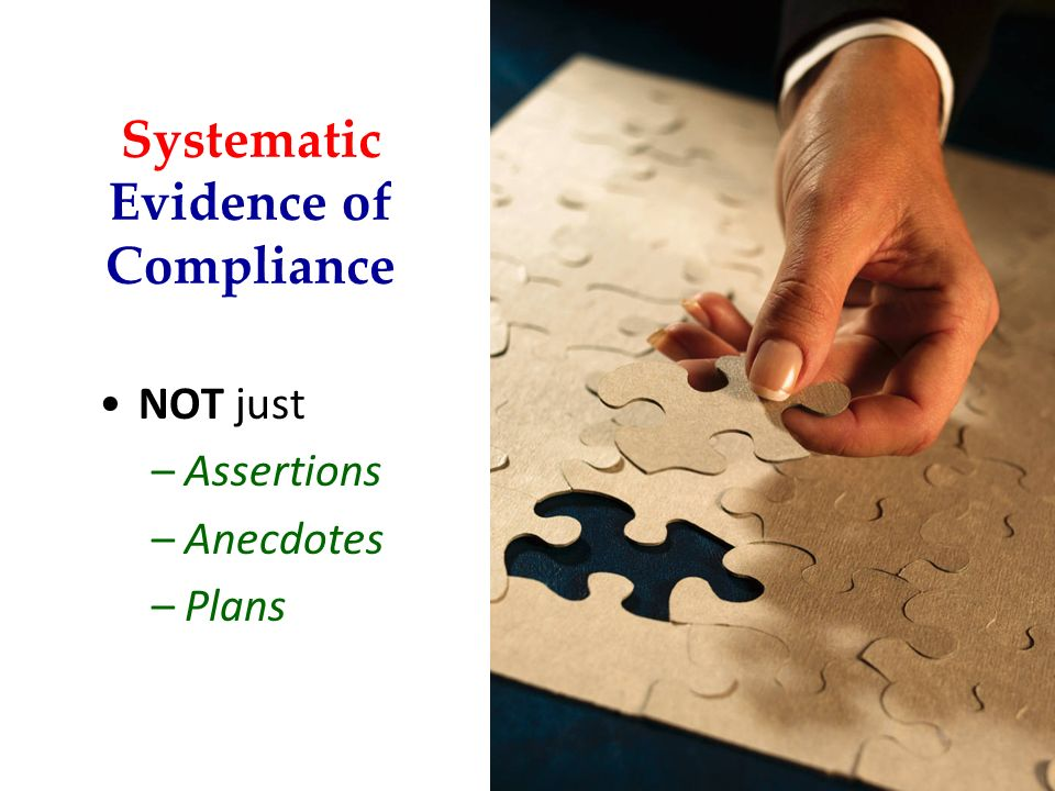 Systematic Evidence of Compliance