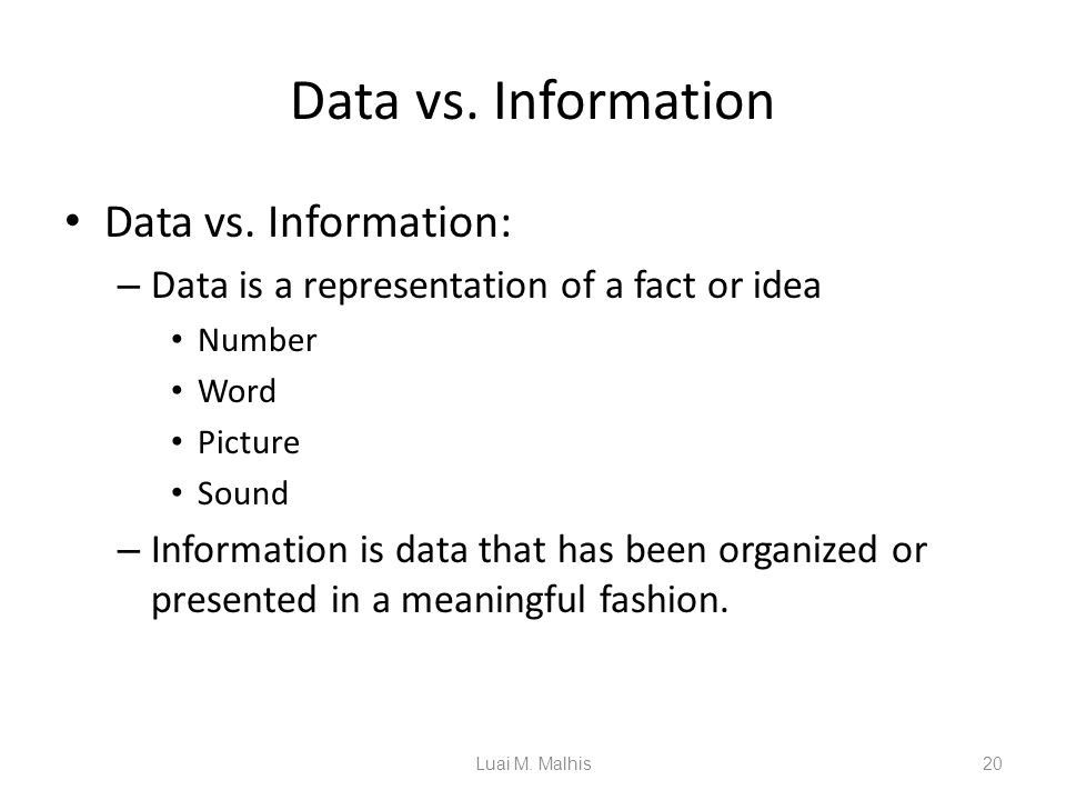 information vs data processing Information processing , the acquisition, recording, organization, retrieval, display, and dissemination of information in recent years, the term has often been applied to computer-based operations specifically this article touches on such concepts as they relate to information processing in.