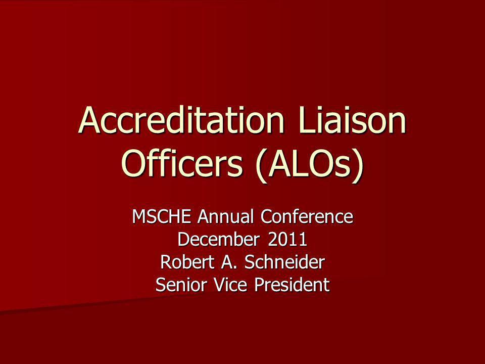 Accreditation Liaison Officers (ALOs)