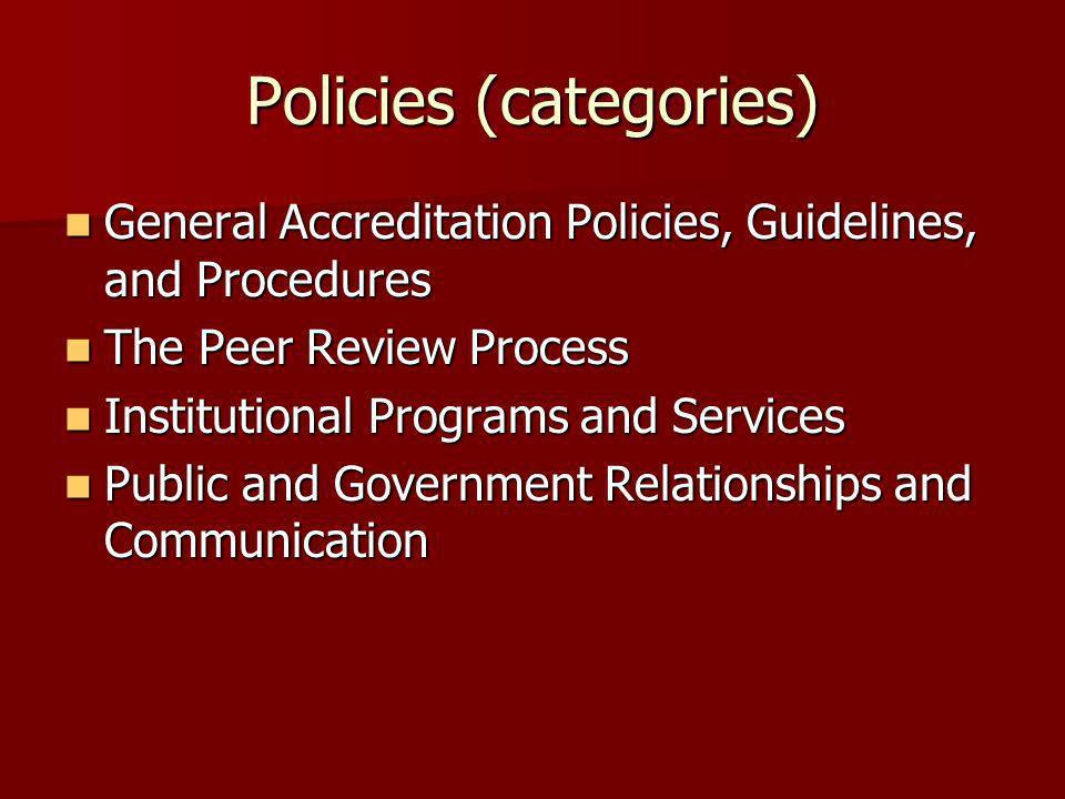 Policies (categories)