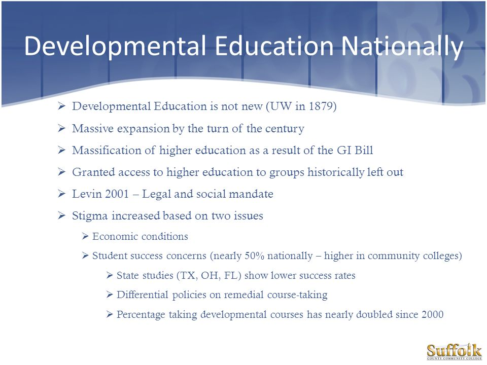 Developmental Education Nationally