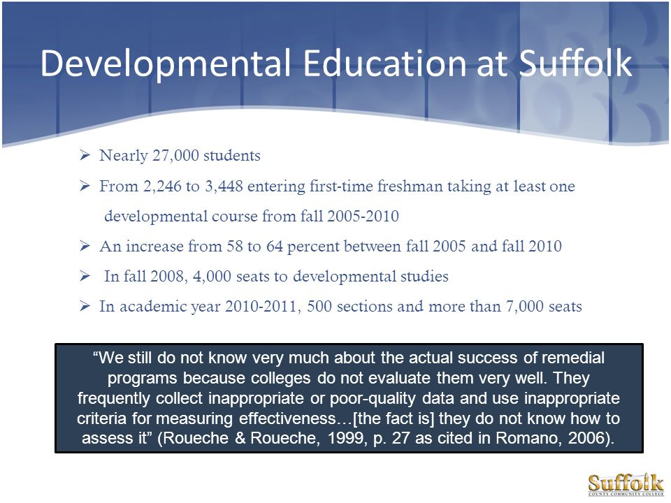 Developmental Education at Suffolk