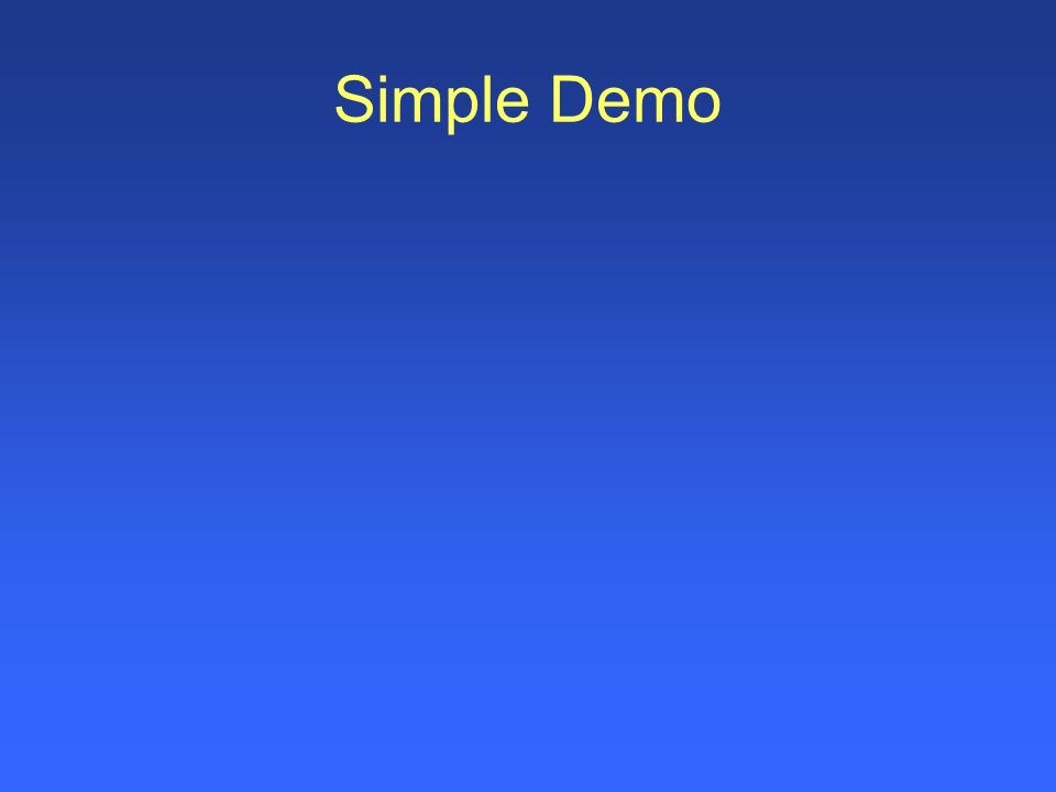 Simple Demo