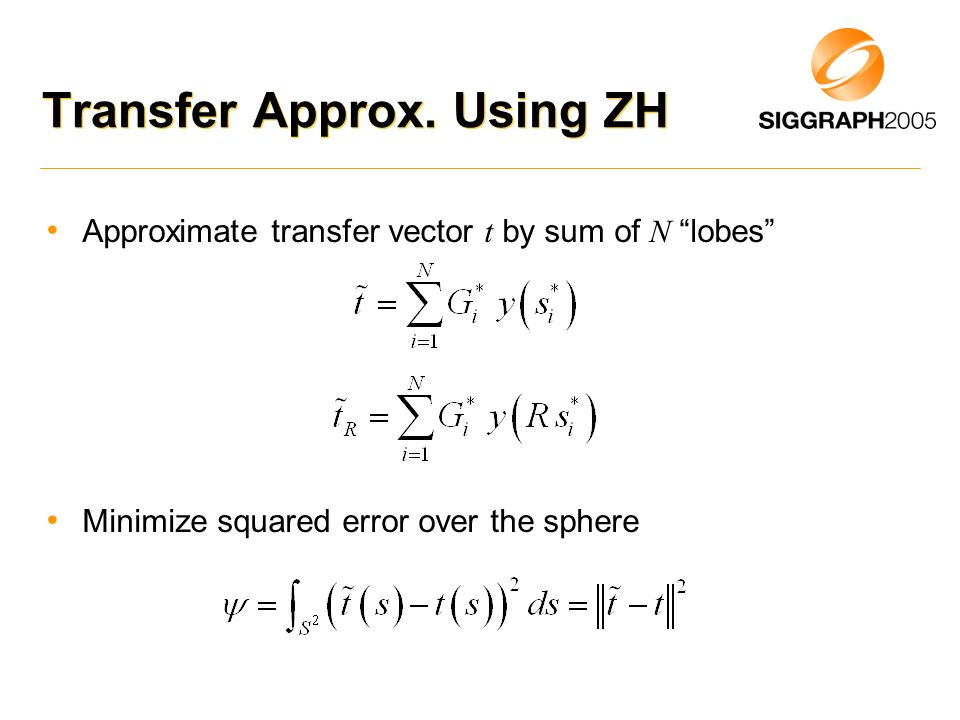 Transfer Approx. Using ZH