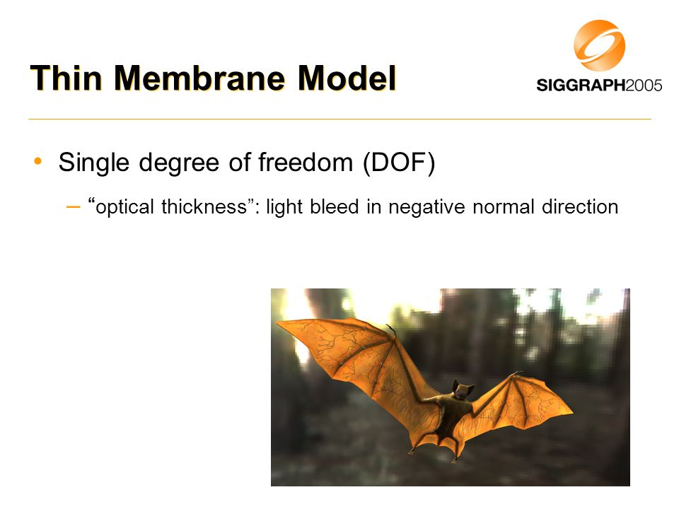 Thin Membrane Model Single degree of freedom (DOF)
