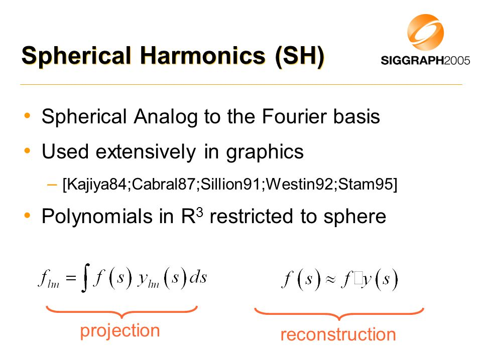 Spherical Harmonics (SH)