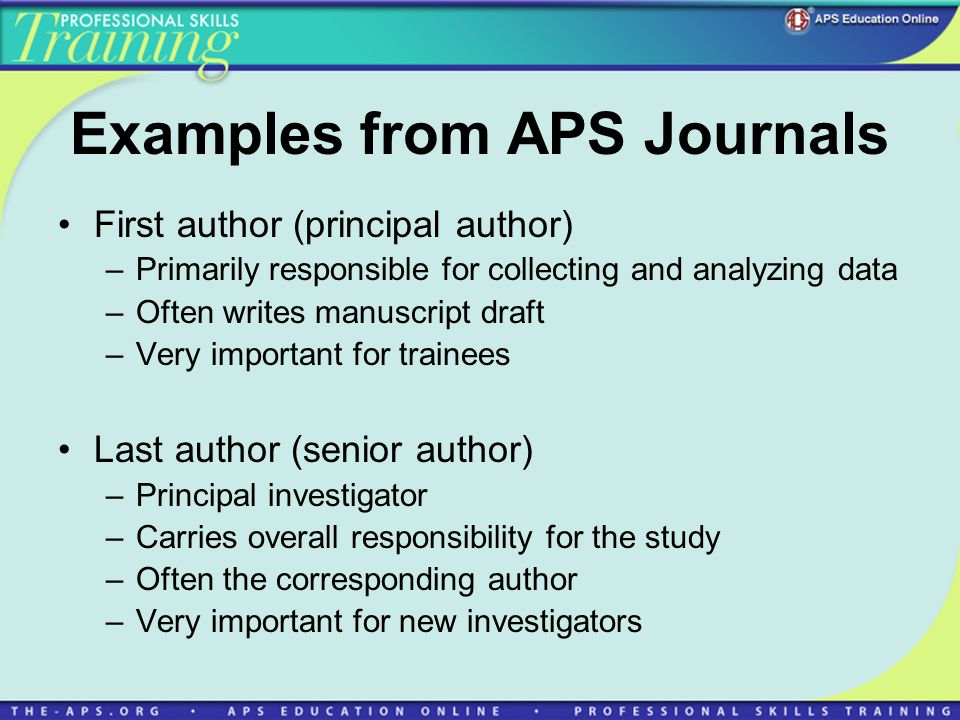 Examples from APS Journals