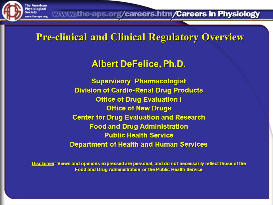 Pre-clinical and Clinical Regulatory Overview
