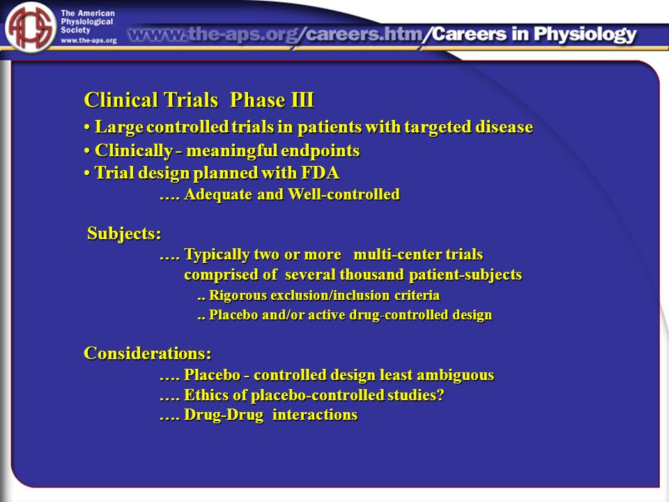 Clinical Trials Phase III