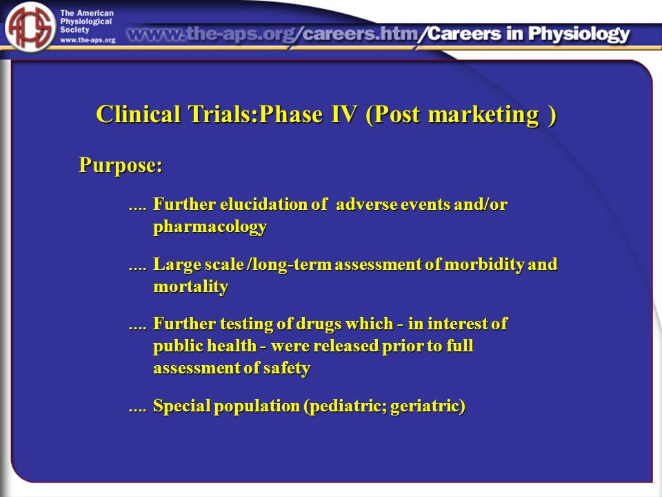 Clinical Trials:Phase IV (Post marketing )