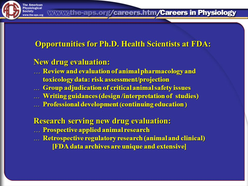 Research serving new drug evaluation: