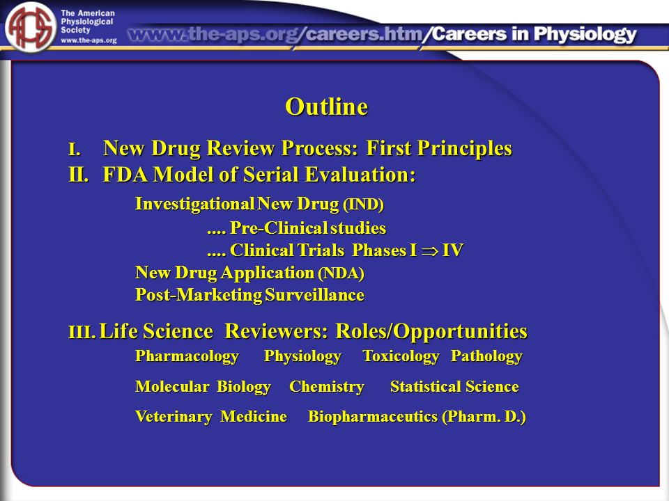 The Drug Development and Approval Process
