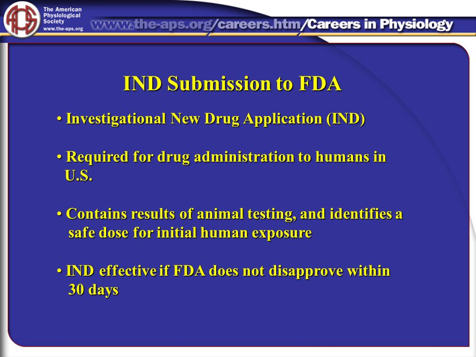 IND Submission to FDA Investigational New Drug Application (IND)