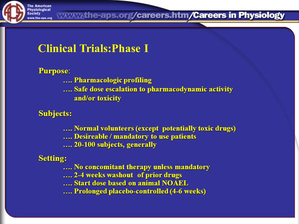 Clinical Trials:Phase I