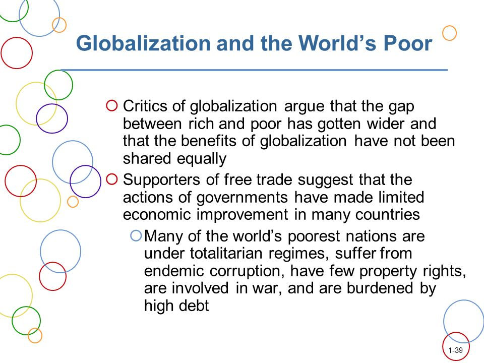 is international trade makes rich countries richer and poor countries poorer O critics of economic liberalization and international trade, it is an article of faith that the rich are getting richer and the poor poorer inequality is soaring through the globalization.