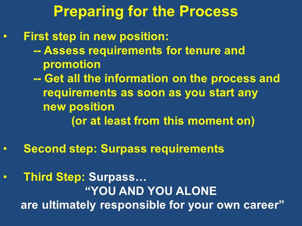 are ultimately responsible for your own career
