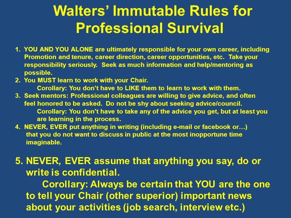Professional Survival