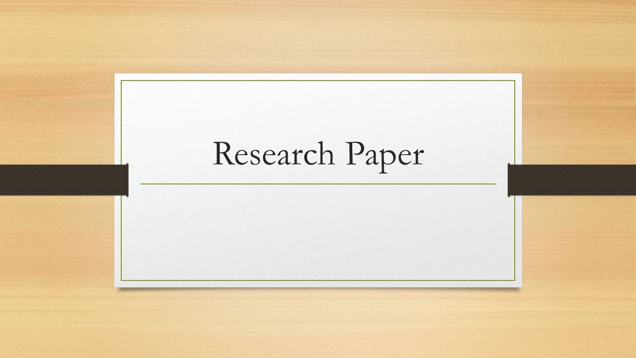 Video research paper
