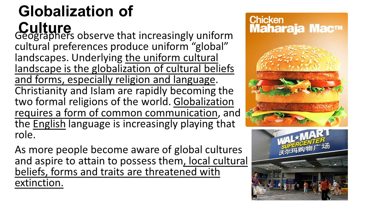 globalization local culture essay Culture and globalization essay stating their opinions i, however, believe that barber is most correct on his view of the current world status.