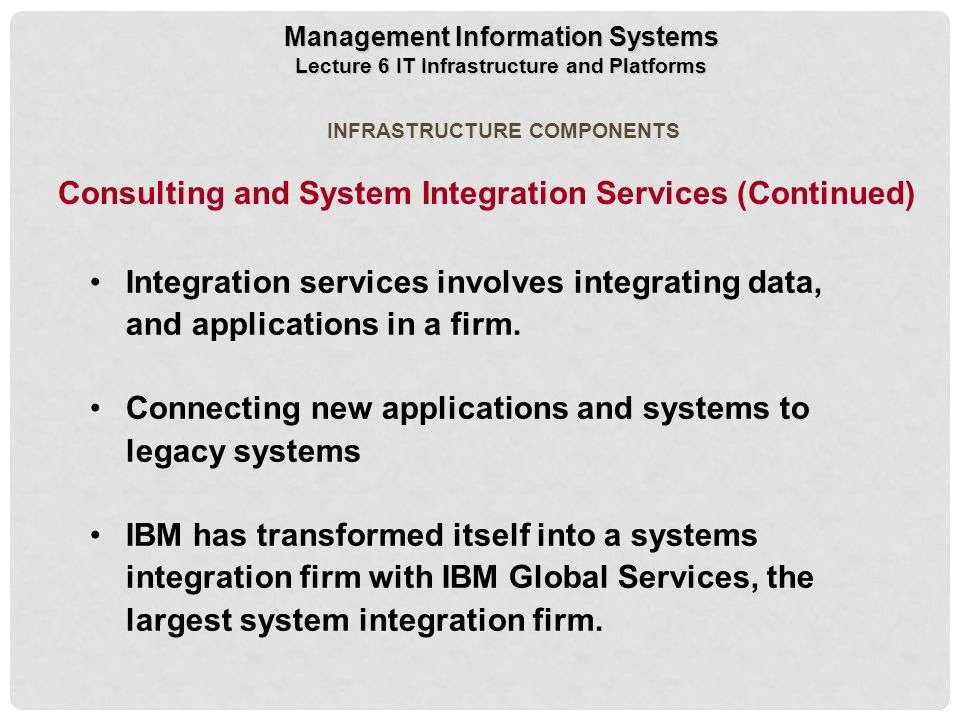 Management consulting firms amp information systems