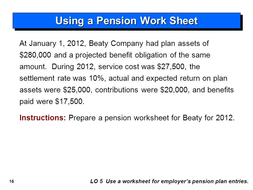 Accounting for Pensions and Postretirement Benefits - ppt video ...
