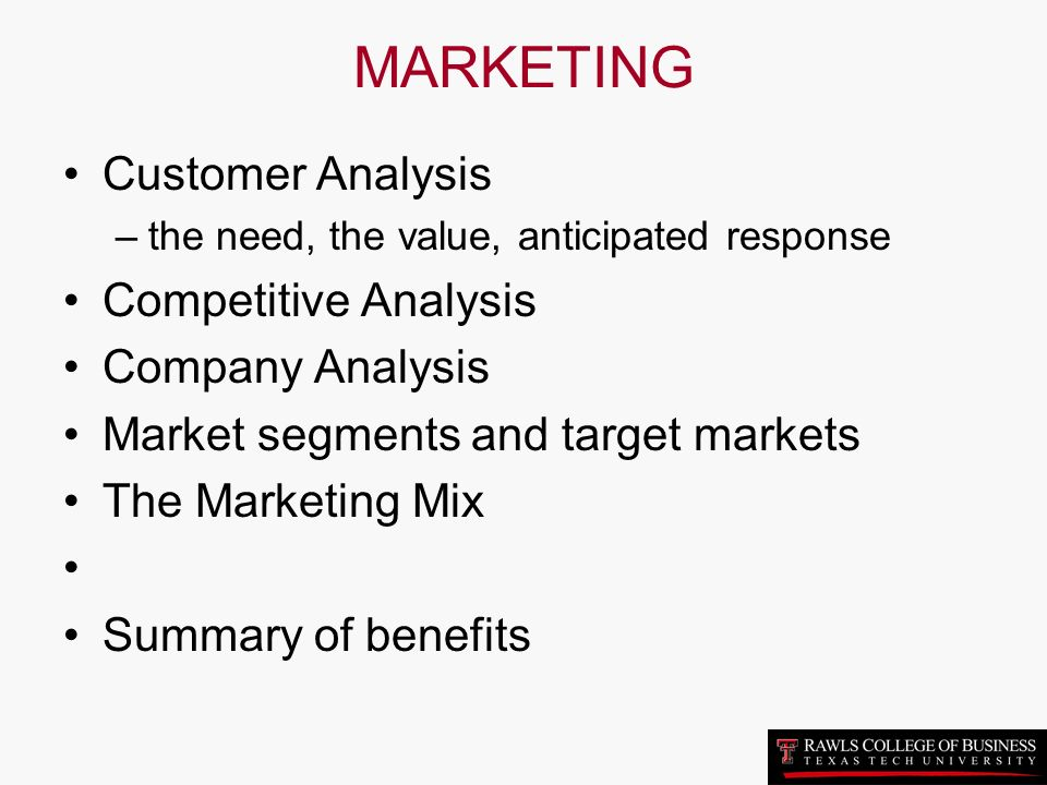a discussion on the need of additional marketing for the new product of a company Identify your most valuable customers and if you are launching a new product understanding your customers helps you see which of their needs your product.