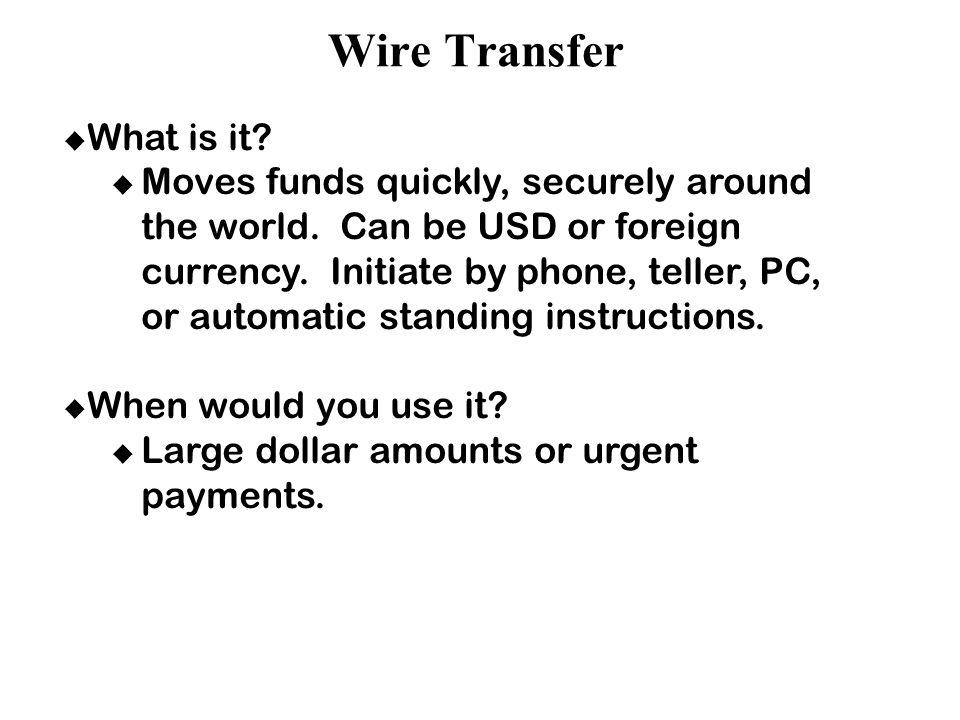international funds transfer instructions