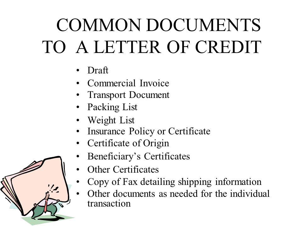 International methods of payment ppt download common documents to a letter of credit yadclub Image collections