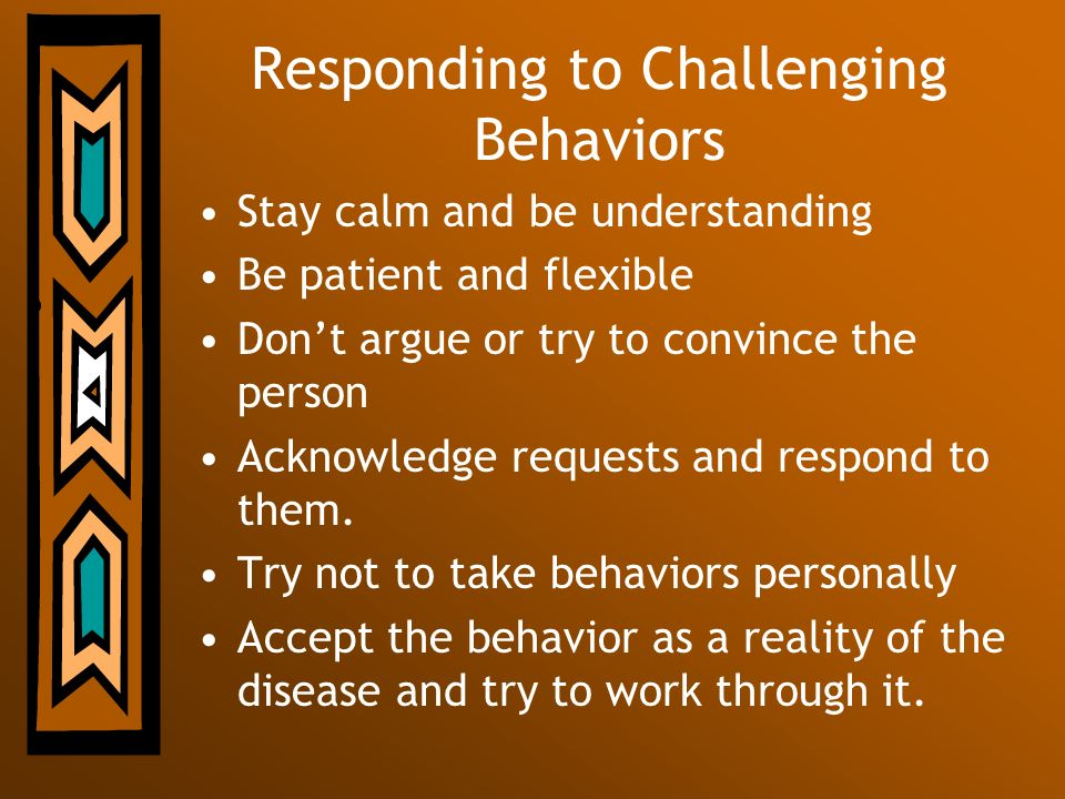 Responding to Challenging Behaviors
