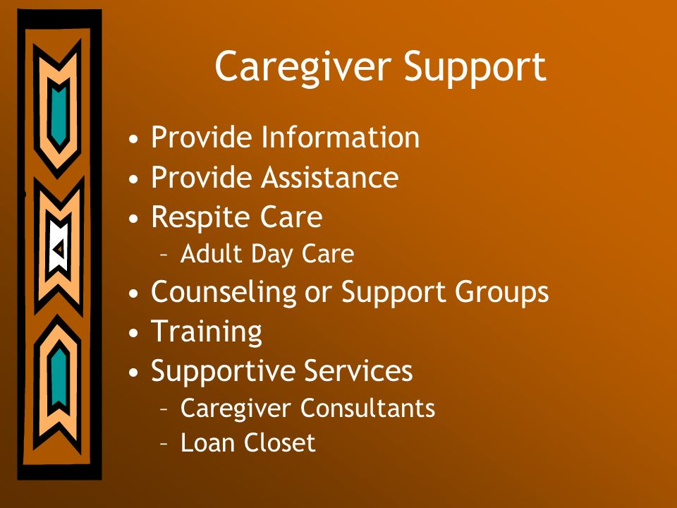 Caregiver Support Provide Information Provide Assistance Respite Care