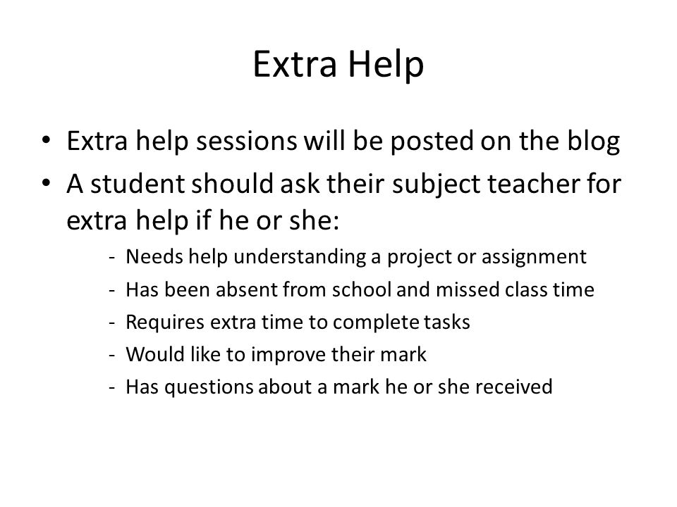 how to ask ta for extra help
