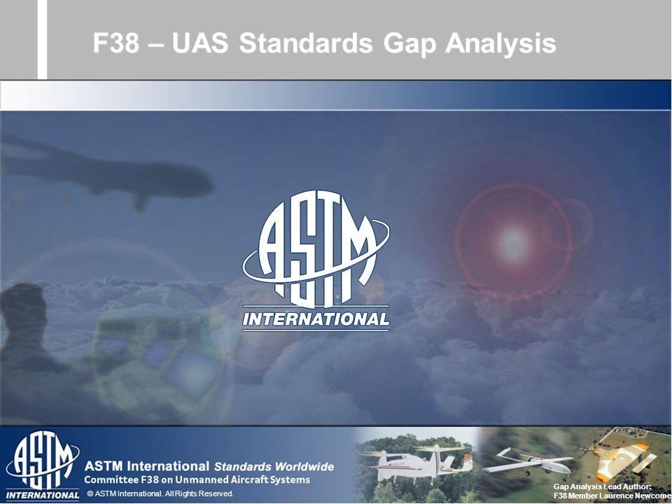 F38 – UAS Standards Gap Analysis