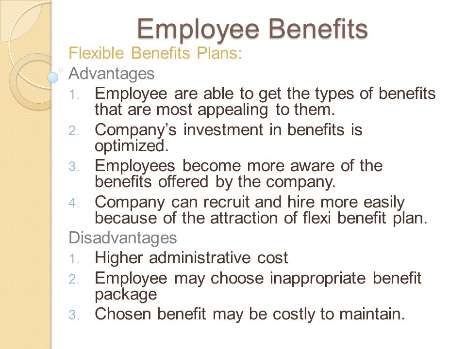 flexible benefits its effects on employee The aamc provides a flexible spending account (fsa) program, under section   aamc employees may take advantage of three benefits that can reduce the.