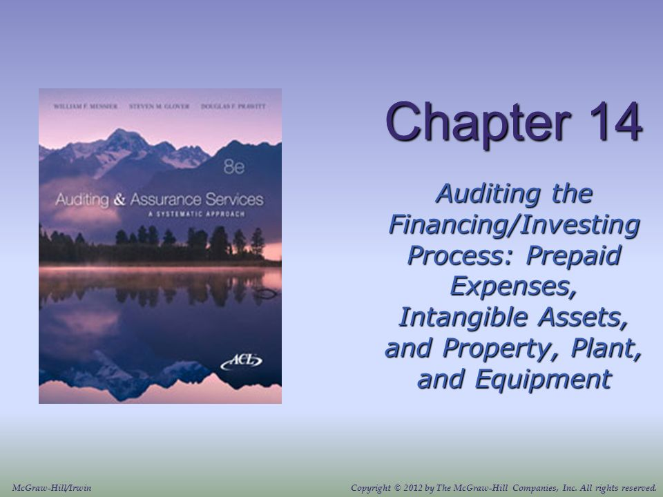 Chapter 14 Auditing the Financing/Investing Process: Prepaid Expenses, Intangible Assets, and Property, Plant, and Equipment.