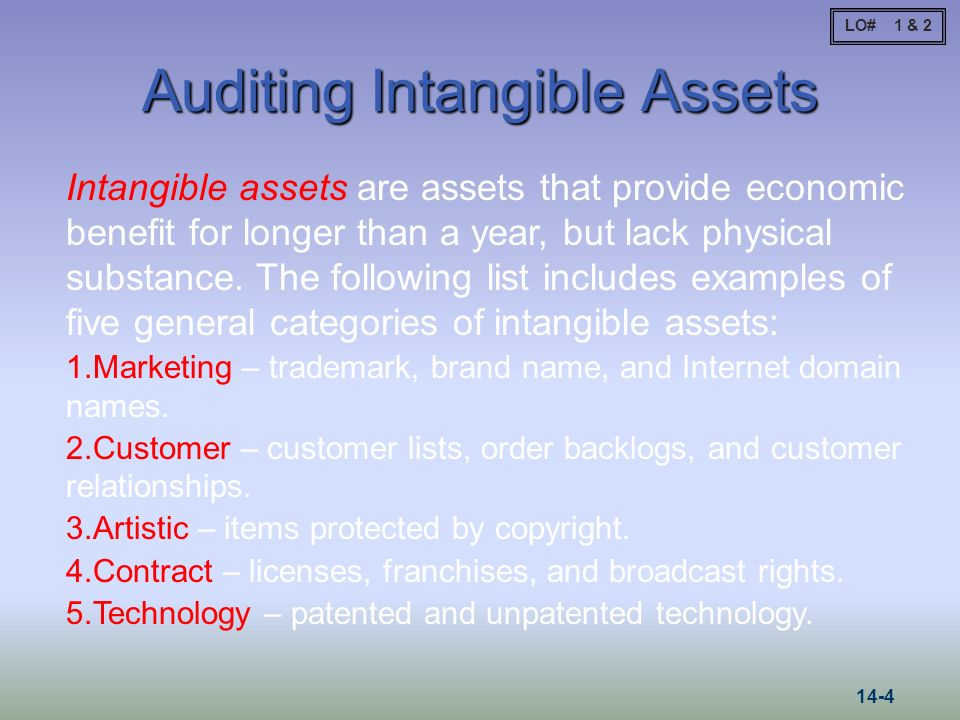 Auditing Intangible Assets