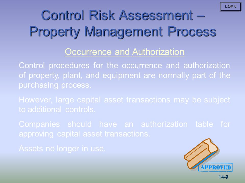 Control Risk Assessment – Property Management Process