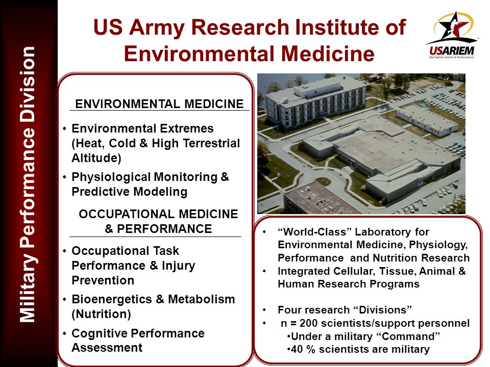 US Army Research Institute of Environmental Medicine