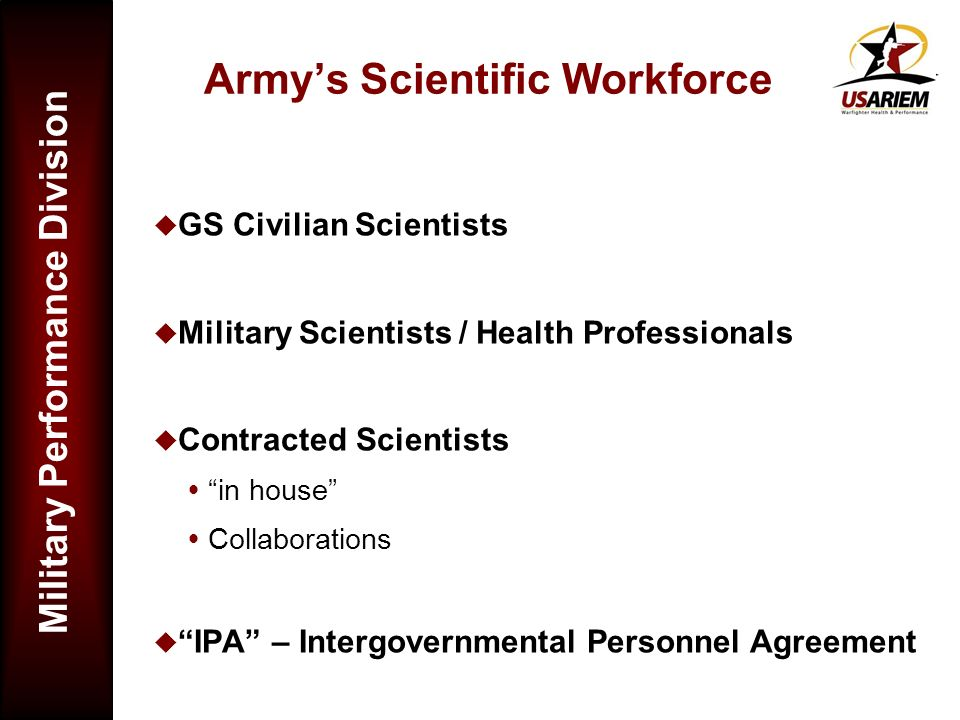 Army's Scientific Workforce