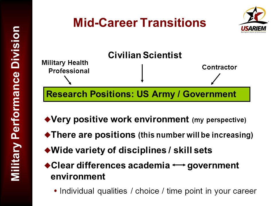 Mid-Career Transitions