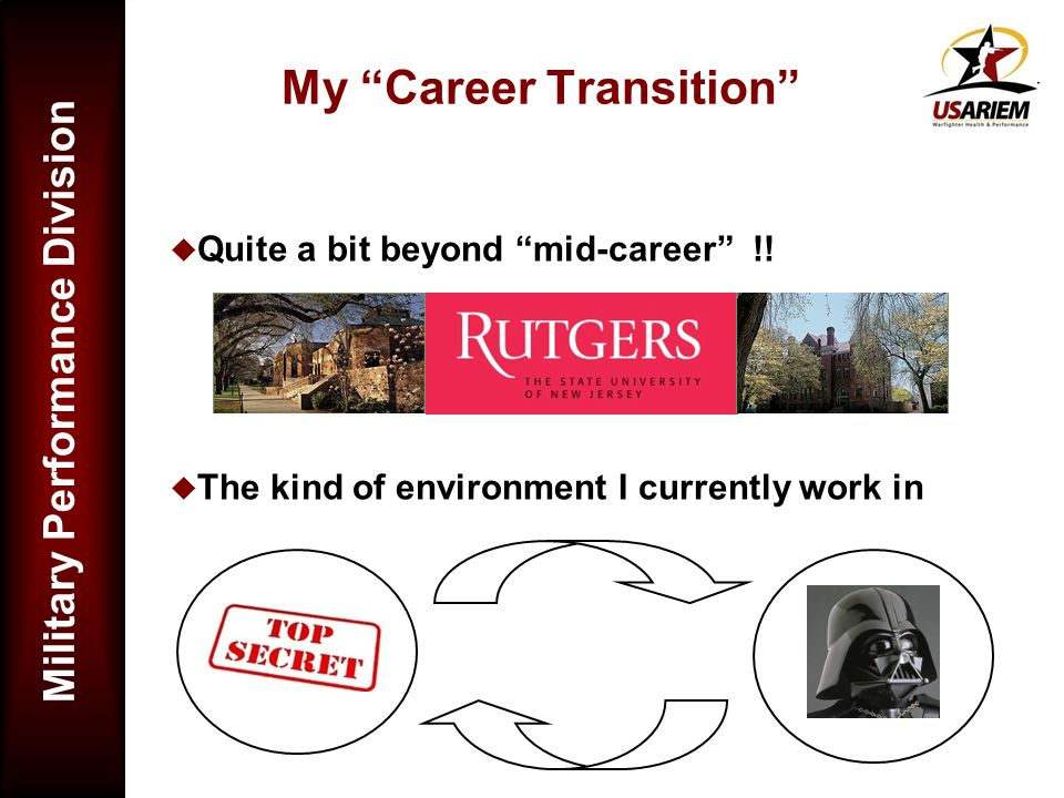 My Career Transition